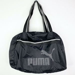 Puma Duffle Bag Black Gym Travel Tote Bag